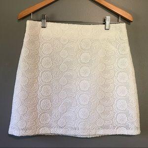 Zara Woman White Lace Mini Skirt